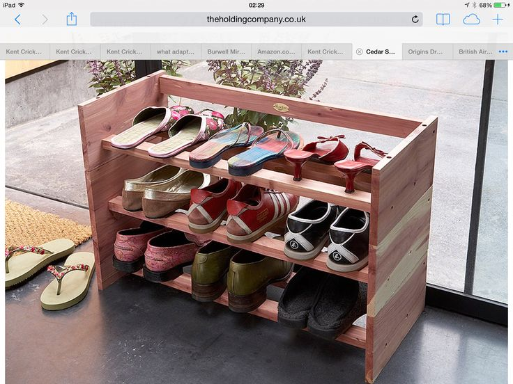 cedar shoe racks 3 pack prefer the ikea options but at least this is narrow and has three shelves
