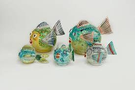 Resultado de imagen de peces hechos en ceramica vidriada
