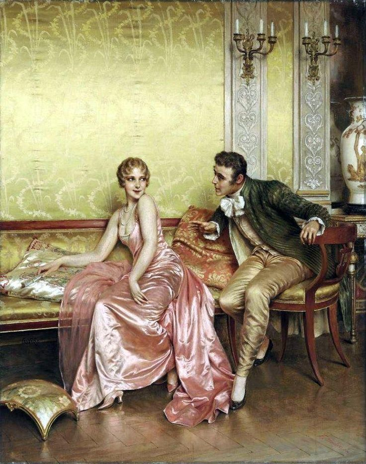 Frederic Soulacroix (1858-1933) —  Conversation (736×934)