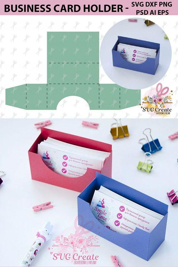 Business Card Holder Template Stand Paper Organiser Box 178914 Card Making Design Bundles Make Business Cards Business Card Holders Diy Business Cards