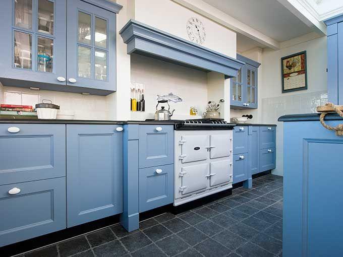 landelijk blauwe keuken - Google zoeken