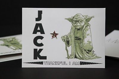 FREE Printable Thankful I Am AKA Yoda Star Wars Thank You Notes from The Blackberry Vine