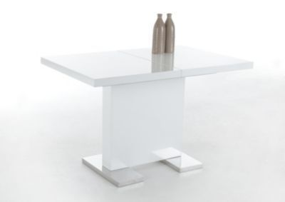 Säulentisch ausziehbar weiss Hochglanz lackiert Jetzt bestellen unter: https://moebel.ladendirekt.de/kueche-und-esszimmer/tische/esstische/?uid=3f7ee373-9099-5c64-90c3-980f294e410e&utm_source=pinterest&utm_medium=pin&utm_campaign=boards #kueche #esstische #esszimmer #tische
