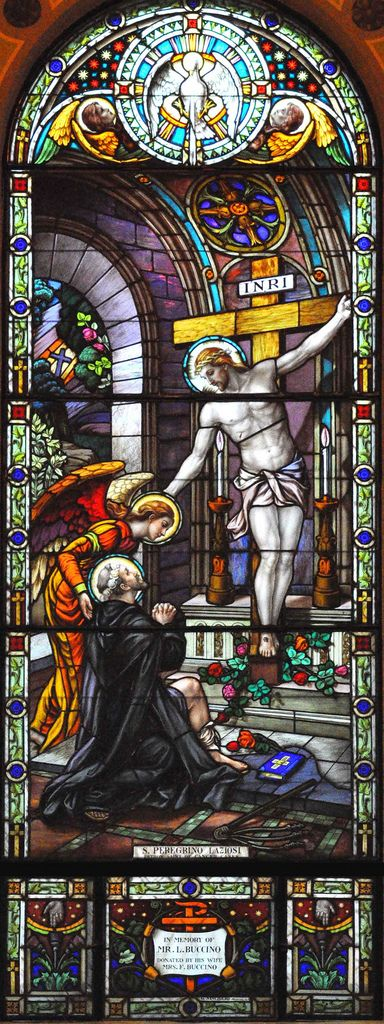 https://flic.kr/p/8Sbhep | Servites de Marie Stained Glass Window | St. Anthony Catholic Church, Ottawa