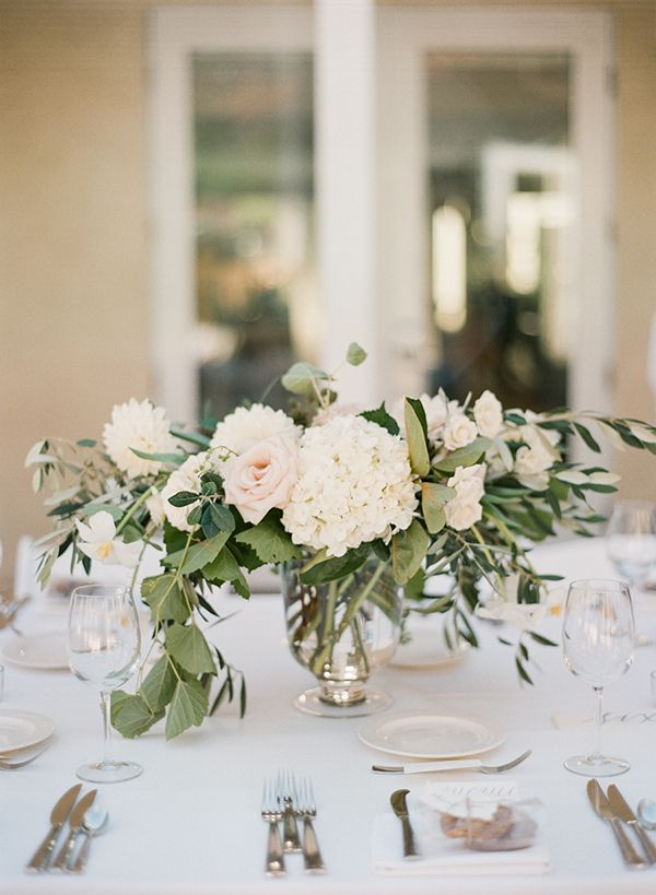 The Inn at Rancho Santa Fe Wedding, White Green and Blush Florals, Garden Roses and Hydrangea, Popsicle Cart, Blue Bridesmaids, www.snippetandink.com