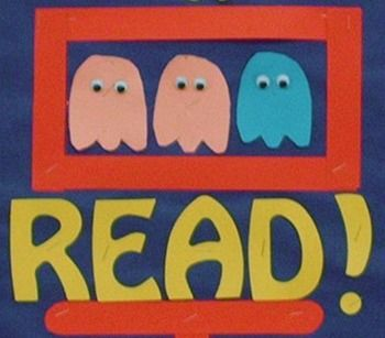 Pac-Man Bulletin Board Idea! Great for a reading poster!