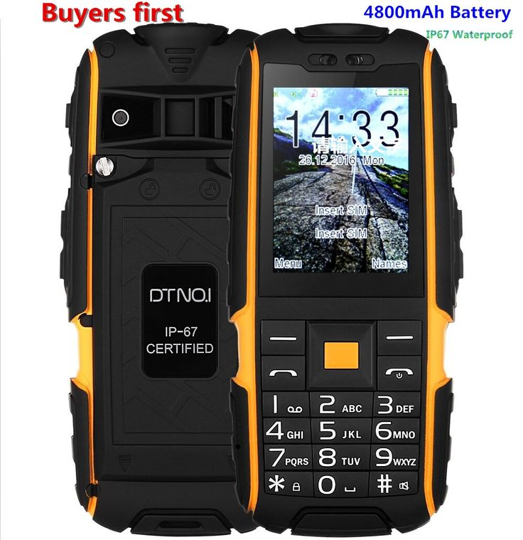 33.24$  Watch now - Original DTNO.I A9 IP67 Waterproof shockproof Dual SIM mobile phone 4800mAh FM flashlight  cell phone can add Russian keyboard   #buyonline