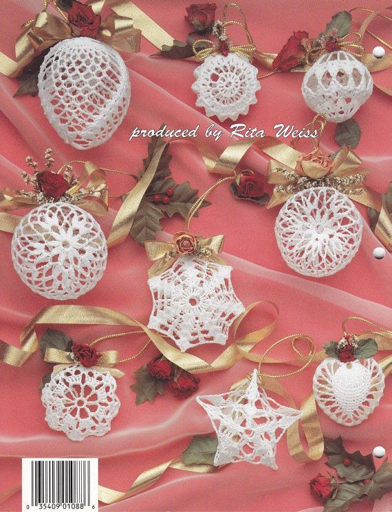 Christmas Romance Ornaments Crochet Patterns My Grandma has a ton of these on her tree. I would love to make some and add glitter!