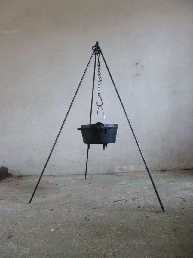 2 in 1 Cooking Tripod with Hooks and Chain £25.00