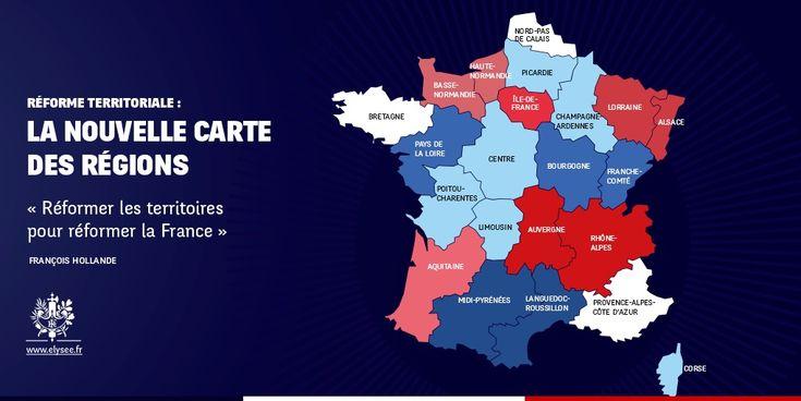 carte des 14 nouvelles régions de france