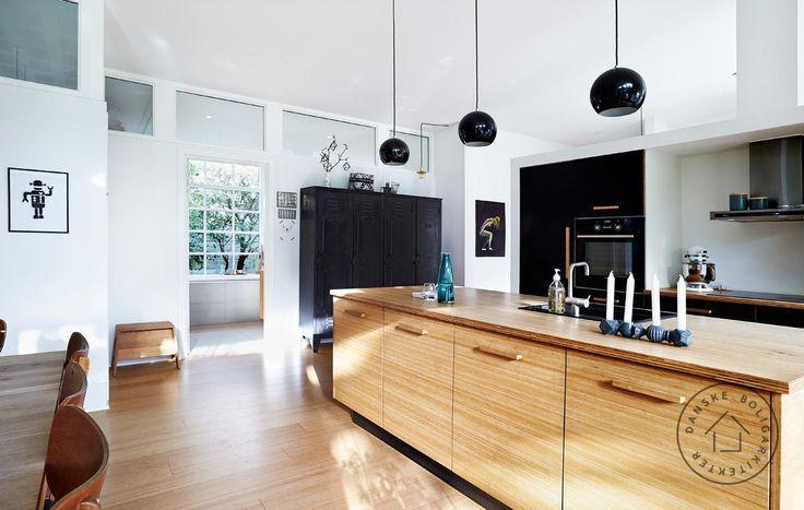 Bæredygtigt køkken i bambus. Køkkenet er tegnet af Rasmus Skaarup/Danske BoligArkitekter.