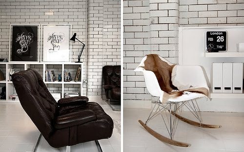 I have this white rocker - it somehow doesn't look as refined buried under a weeks worth of clothes.