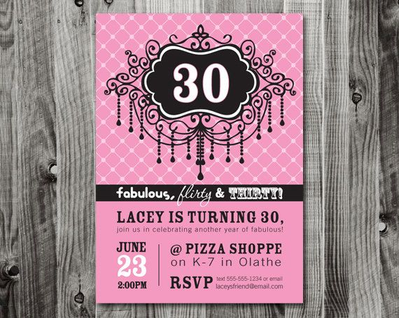 17 Best images about invitation ideas for 30th birthday party on – 30th Birthday Party Invitation