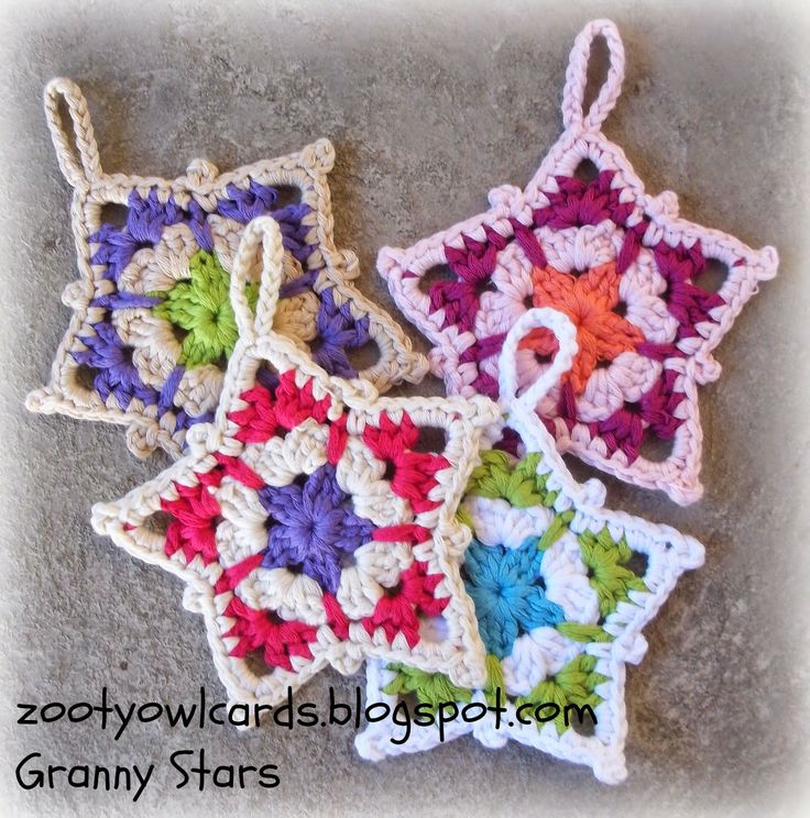 Granny Star Pattern from Zooty Owl's Crafty Blog.  She has the cutest mandala patterns on her blog as well!