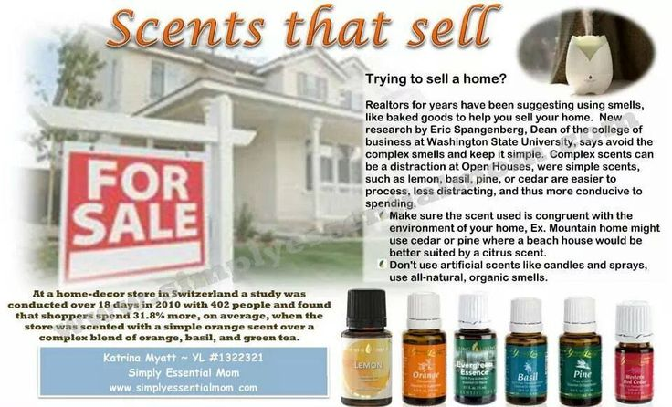 Trying to sell a house? Essential oils may help! www.thelivingdrop.com for more oil help for your family