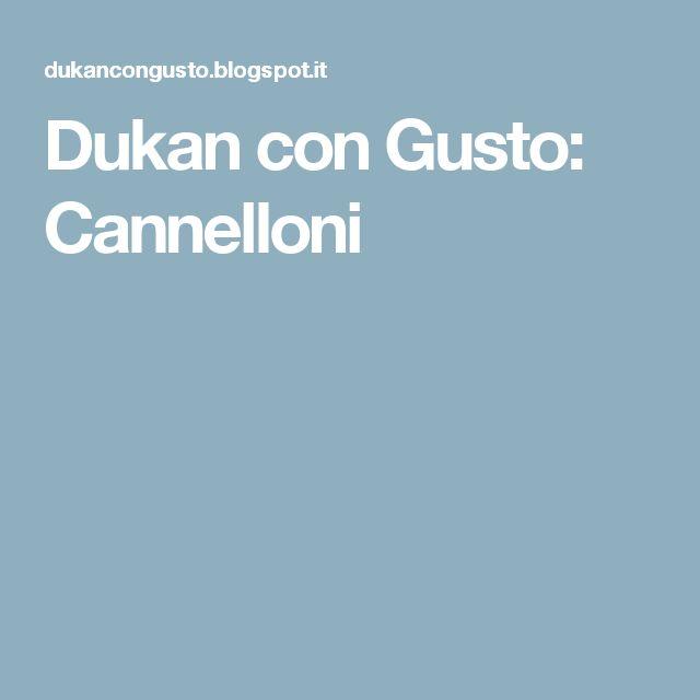 Dukan con Gusto: Cannelloni