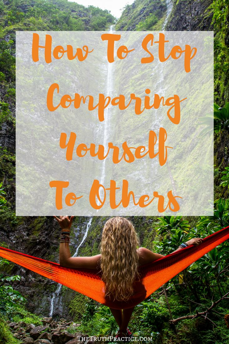 Tips for how to stop comparing yourself to other people. When social media gets overwhelming, when you wish your life looked more like someone else's, when you want to love yourself just the way you are but you don't know where to start, click the pin and read this post! Go to TheTruthPractice.com to find out more about inspiration, authenticity, fulfillment, manifesting your dreams, getting rid of fear, intuition, self-love, self-care, relationships, affirmations, positive quotes, life…