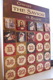 Christ the Savior is Born: Advent Calendar...a beautiful design for an Advent calendar that doesn't feature santa or elves:)