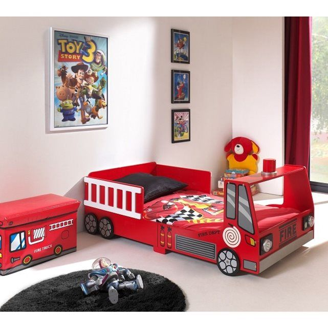 Lit Enfant Pompier Mini Truck 70x140 SOMEO   La Redoute Mobile