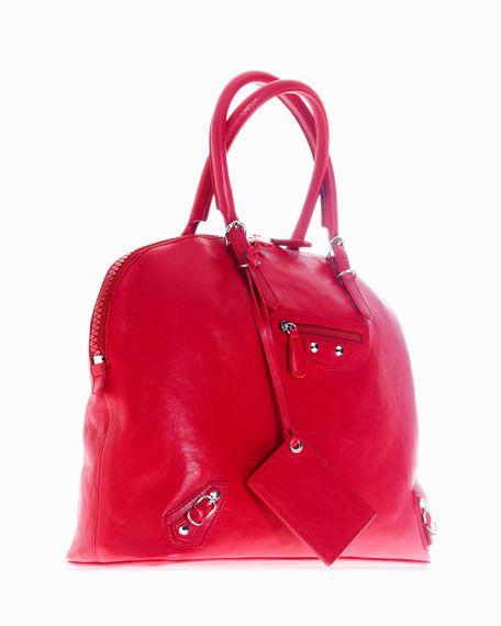 I love a red bag... Balenciaga Carousel Bowling Bag, Rouge $1,545