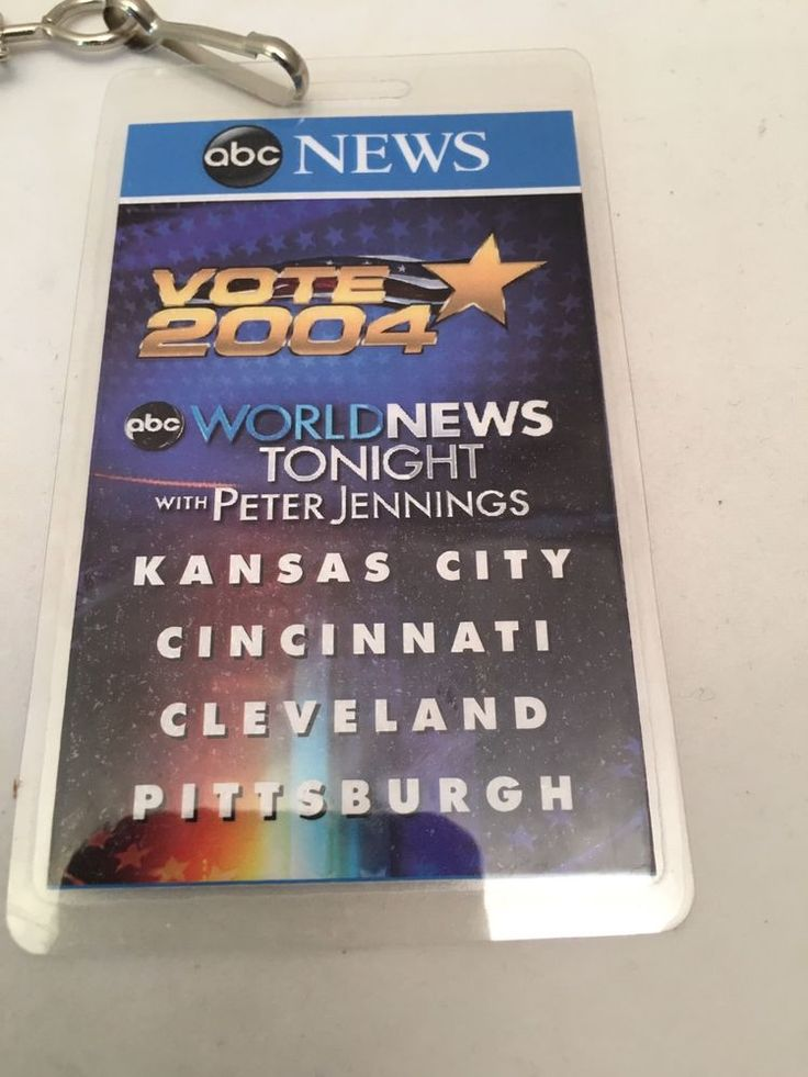 ABC World News Tonight Peter Jennings Vote 2004 Presidential election laminate
