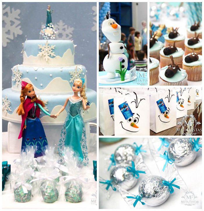 Frozen themed birthday party with Lots of Really Cute Ideas via Kara's Party Ideas KarasPartyIdeas.com