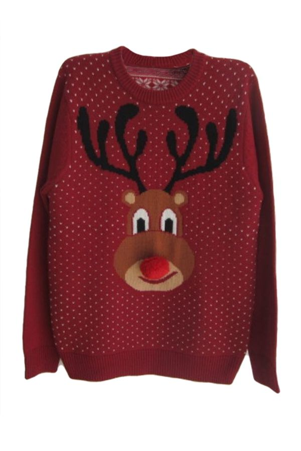 Ruby Warm Winter Womens Reindeer Pattern #creative #nordic #reindeer #ugly #Christmas #Sweater #for #womens #pattern pinkqueen.com