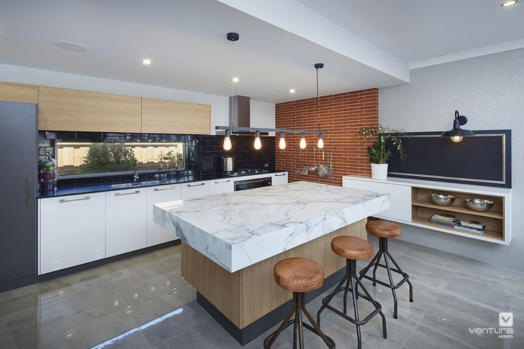Kitchen home design with #industrial influence. The