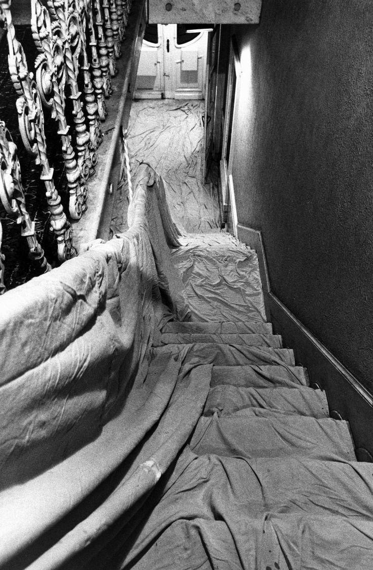 Wrapped Stairway, Wide White Space Gallery, Antwerp, Belgium, 1969