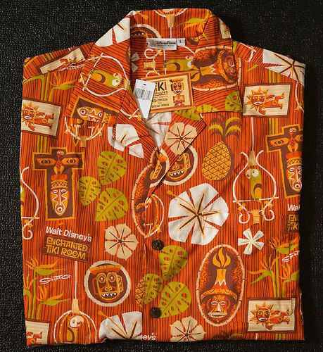 (1) ONE ENCHANTED TIKI ROOM 50TH ANNIVERSARY KORO ALOHA SHIRT BY SHAG LARGE