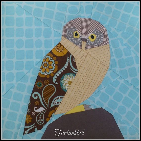 Morepork A Paper Pieced Pattern by TartankiwiPatterns on Etsy