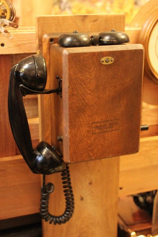 Wooden Antique Telephone Bell To Ring