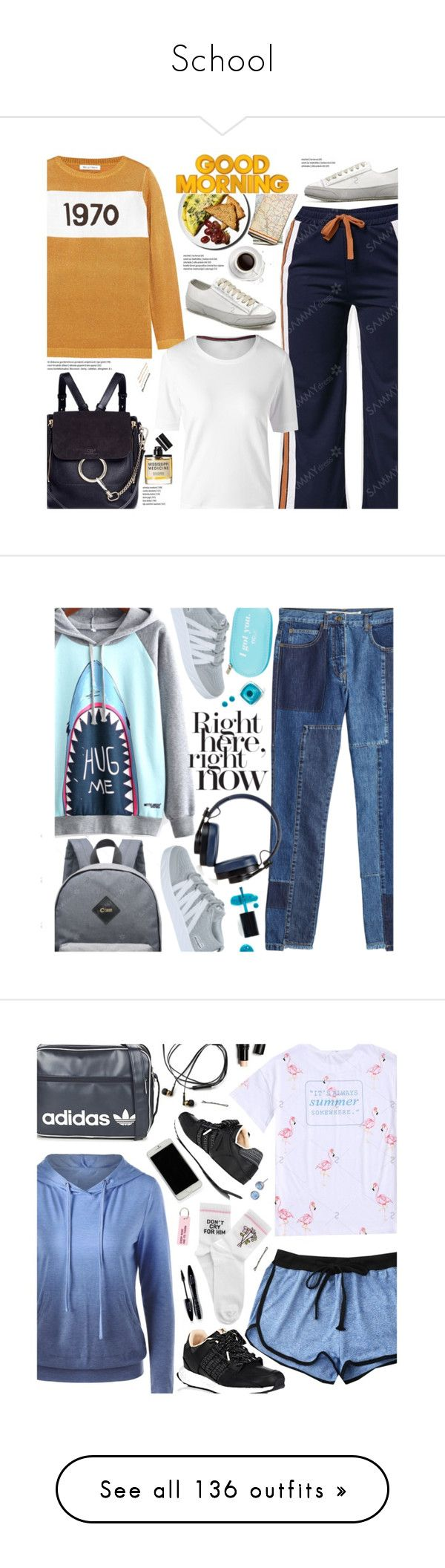 """School"" by beebeely-look ❤ liked on Polyvore featuring Bella Freud, D.S. & DURGA, Chloé, Kitsch, BackToSchool, casual, casualoutfit, sammydress, WardrobeStaples and McQ by Alexander McQueen"