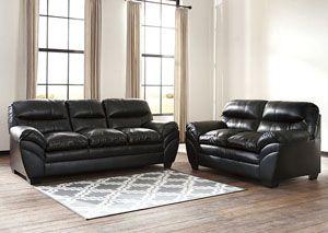 Tassler DuraBlend Black Sofa and Loveseat