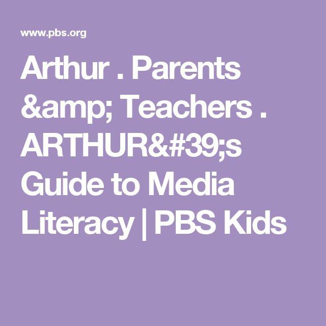 Arthur . Parents & Teachers . ARTHUR's Guide to Media Literacy | PBS Kids