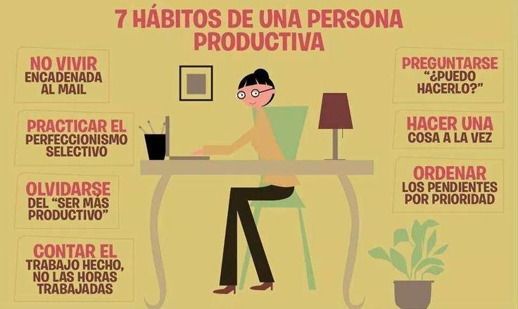 Hábitos persona productiva.