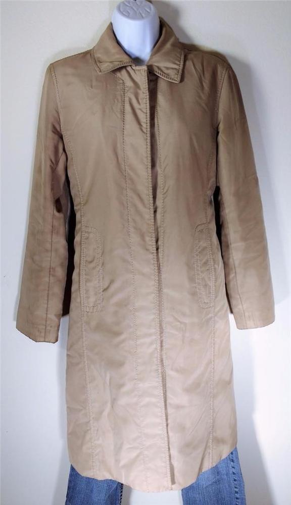 410eb72f2 DKNY Rain trench Coat Khaki water + wind resistant Jacket insulated ...