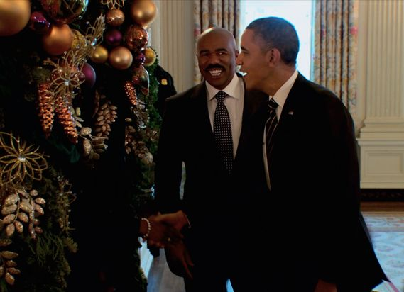 8 best President Obama and Steve Harvey Christmas Special 2013 ...