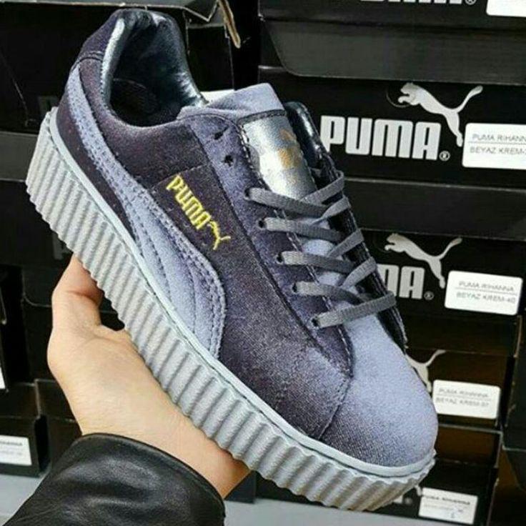 Puma Fenty Gri Parlak Süet Spor Ayakkabı  WhatsApp Bilgi Hattı ve Sipariş : 0 (541) 2244 541  www.renkliayaklar.net