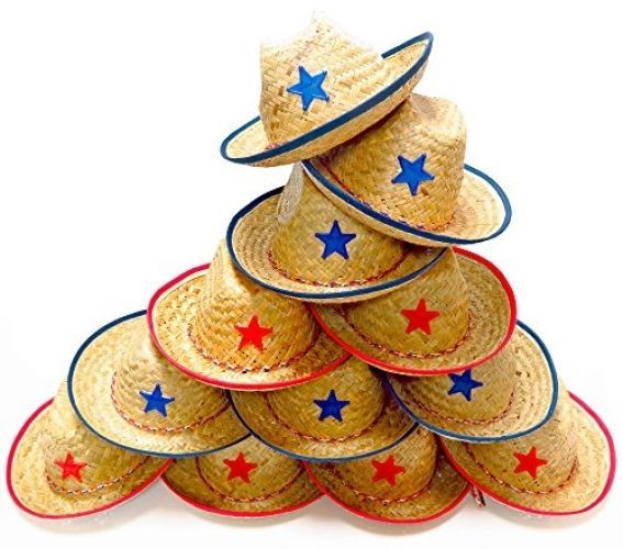 Dozen Straw Cowboy Hats For Kids - Makes Great Birthday Party Hats For Boys and…