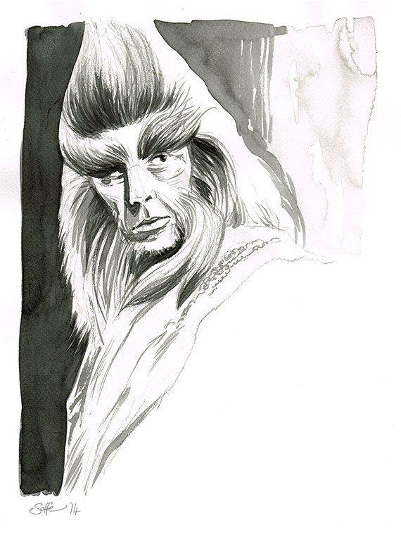 The Hobbit - Beorn original ink drawing by Mygrimmbrother on Etsy