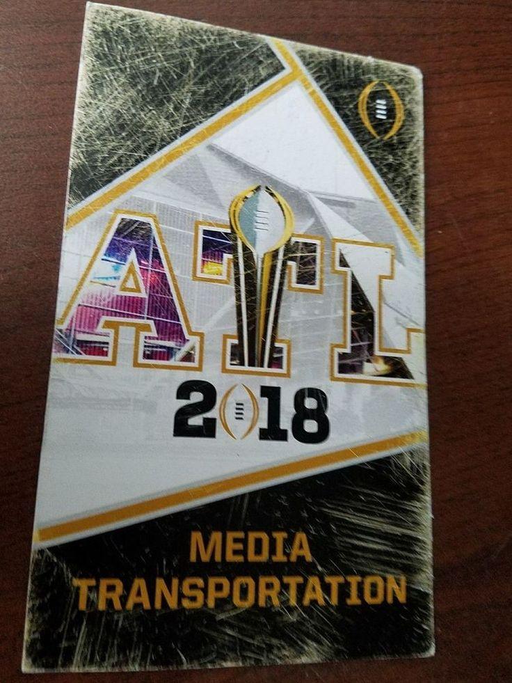 2018 College Football National Championship Media Transportation Badge/pass-Rare