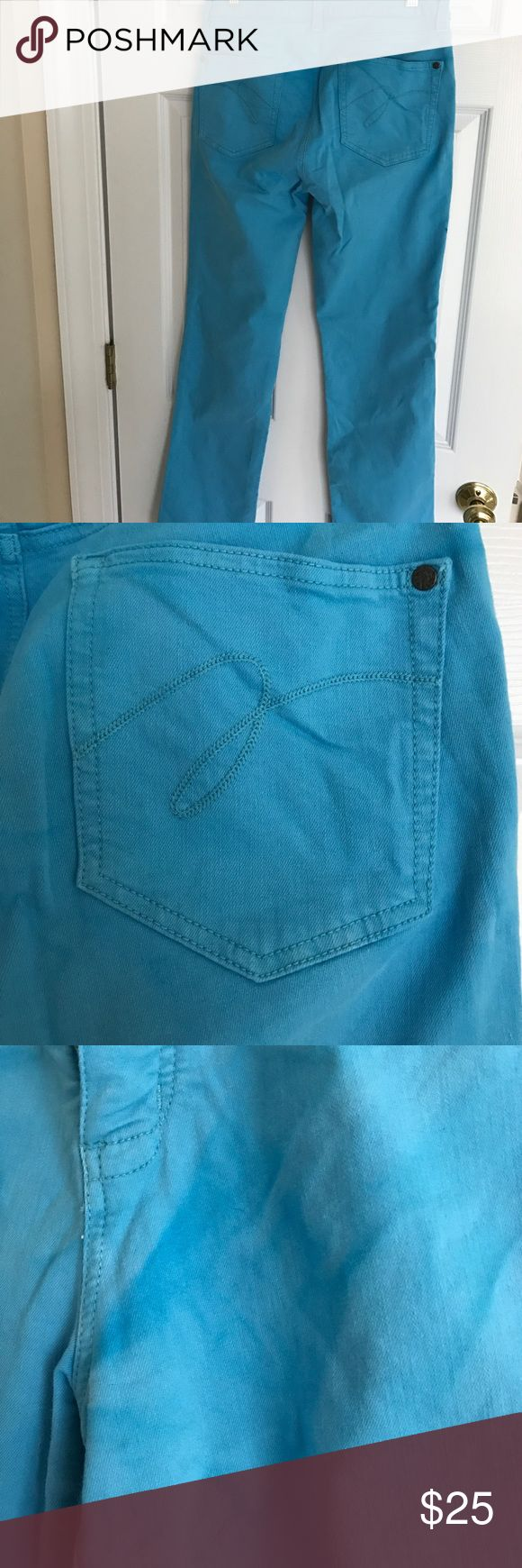 Miracle Body spring Blue jeans Spring bright blue jeans, wonderful for dinners outside!!  Size 8,  washed and some of the blue kind of smeared but still look great on miracle body  Jeans Boot Cut