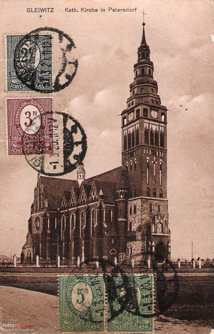 Kościół św. Bartłomieja, Gliwice - 1920 rok, stare zdjęcia