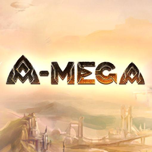 """""""A-mega"""". Game logo. Site: http://a-megagame.ru/"""