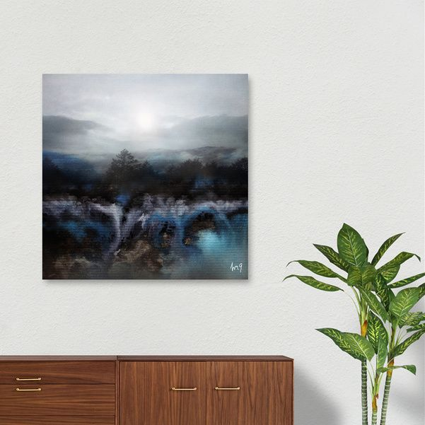 Discover «Calling The Sun III», Numbered Edition Canvas Print by Viviana…