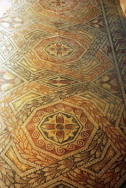 Roman Villae of La Olmeda, west gallery, Spain.