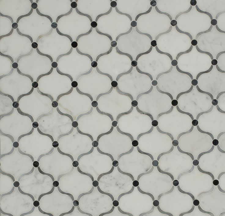 Splashback Tile Steppe Eastern Carrera Polished Marble Waterjet Mosaic Floor  And Wall Tile   3 In. Tile   The Home Depot