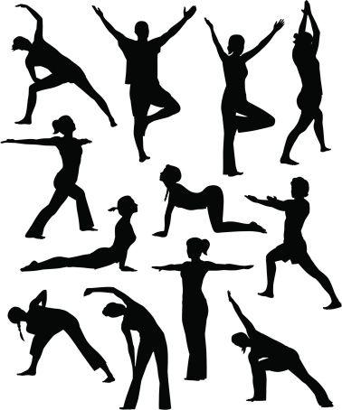 Vectores libres de derechos: Yoga People