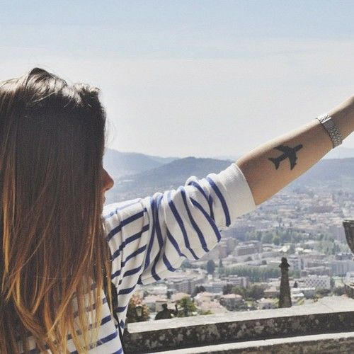 add a caption girl tattoo travel plaine hair hipster life photography beautiful
